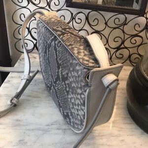 Banana Republic gray leather crossbody bag